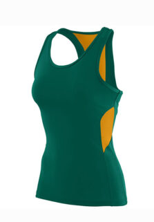 ASi_1282_Dark_Green_Gold_Ladies_Racerback_Wicking_Tank