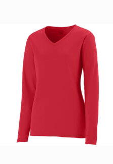 Augusta-Sportswear-1788-Red-Ladies-Long-Sleeve-T-shirt