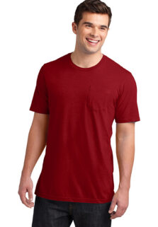 District-DT6000P-Classic-Red-Mens-Pocket-T-shirt-sfw