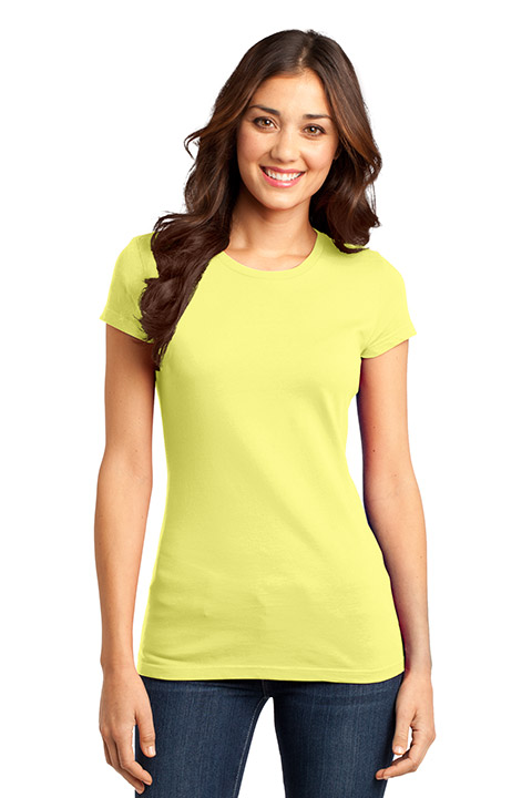 District-DT6001-Lemon-Yellow-Ladies-T-shirt-sfw