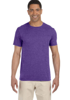 Gildan-G64000-Mens-Heather-Purple-T-shirt