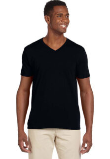 Gildan-G64000V-Black-Mens-V-Neck-T-shirt
