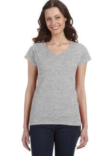 Gildan-G64000VL-Sport-Grey-Ladies-V-Neck-T-shirt