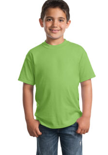 Port-Company-PC55Y-Lime-Green-Youth-T-shirt-sfw