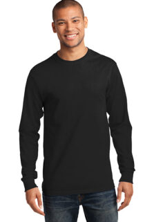 Port-Company-PC61LS-Jet-Black-long-sleeve-T-sfw