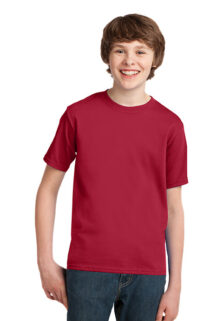 Port-Company-PC61Y-Red-Youth-T-shirt-sfw