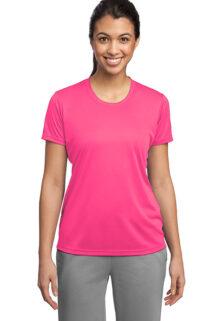 Sport-Tek-LST350-Neon-Pink-Ladies-T-shirt