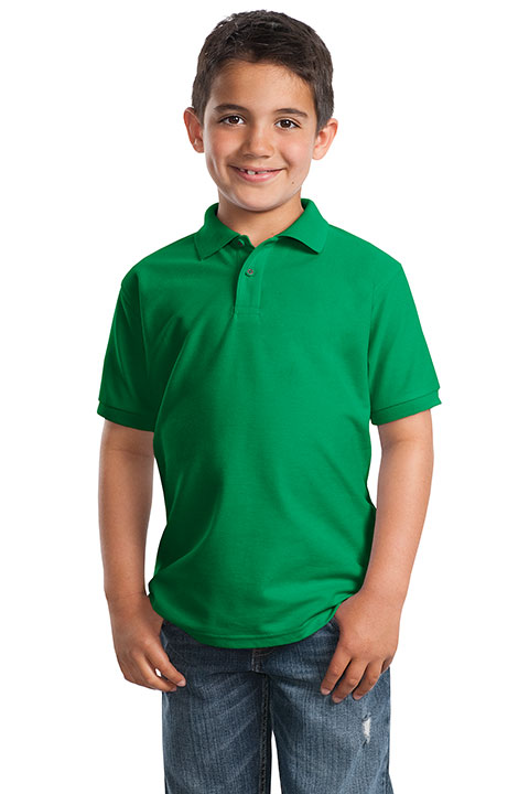 Y500-Kelly-Green-Youth-Polo