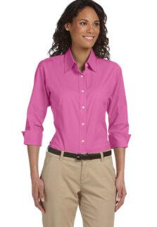 DP625W-Pink-Quarter-Poplin-Ladies-Blouse