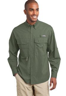 EB606-Green-Cotton-Long-Mens-Shirt