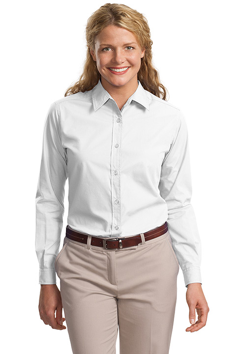 L607-White-Ladies-Long-Shirt