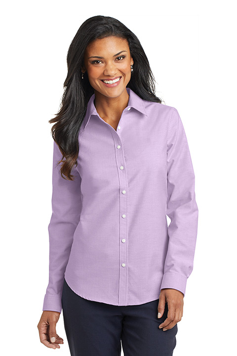 L658-Purple-Blend-Ladies-Oxford-Shirt