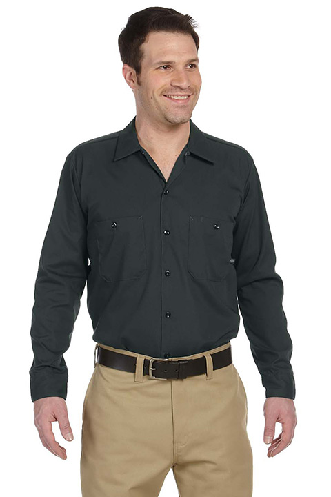 LL535-Charcoal-Long-Poplin-Mens-Shirt
