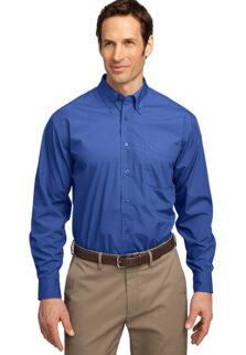 S607-Blue-Blend-Button-Mens-Shirt