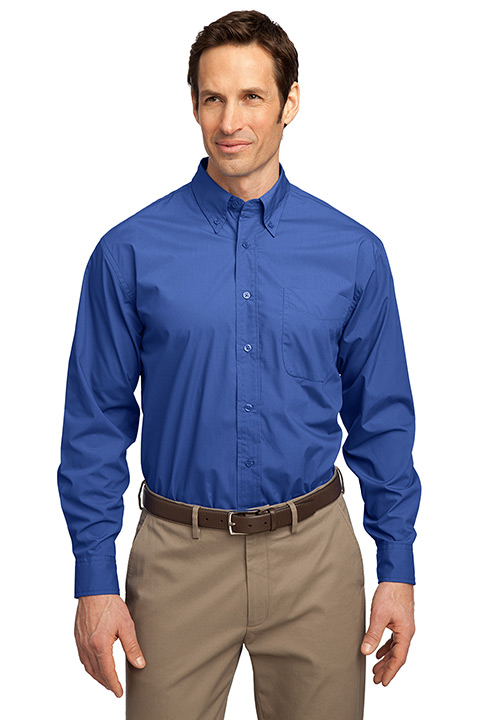 S607-Blue-Blend-Button-Mens-Shirt