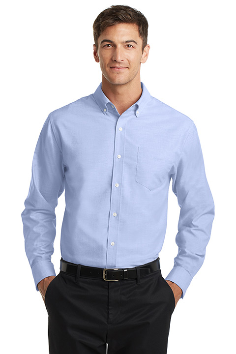 S658-Blue-Blend-Mens-Oxford-Shirt