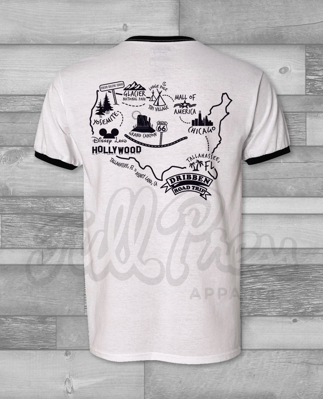 A Family Vacation T Shirt Design With Fun Vintage Flare